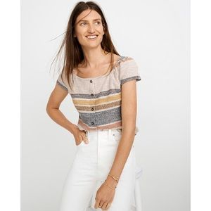 MADEWELL Texture & Tread Button Front Top Stripe